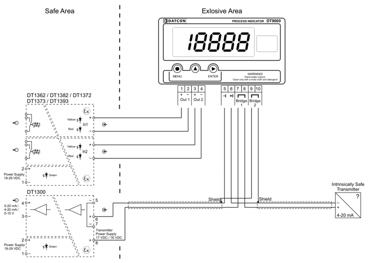 DT9000 intrinsically safe process indicator application example