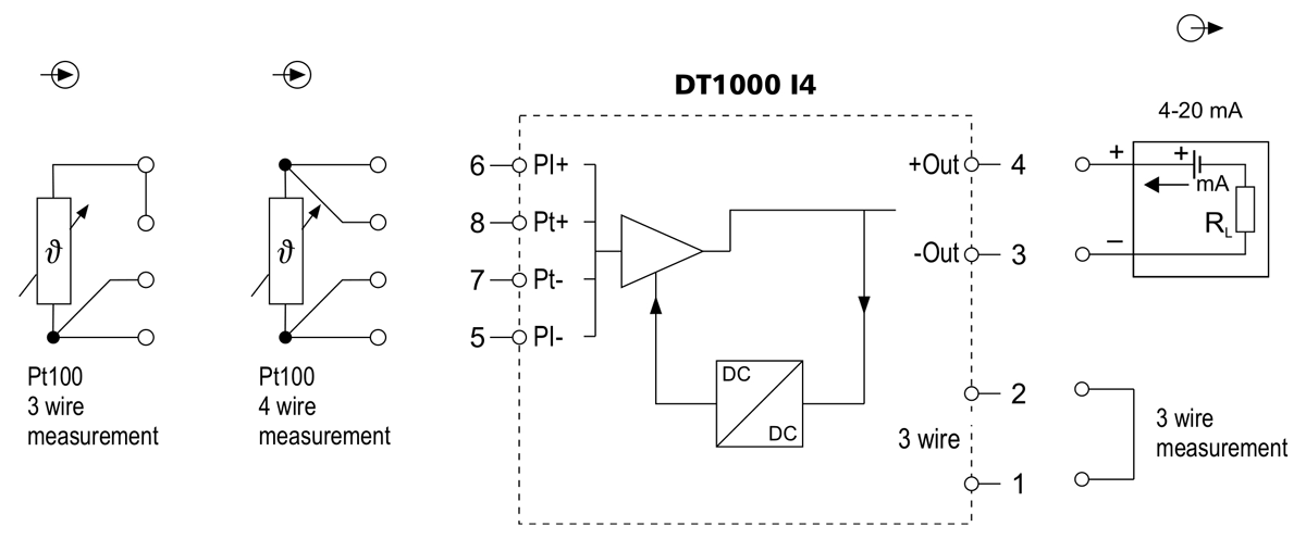 DT1000-I4 temperature transmitter application example