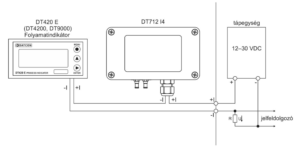 DT712-I4 differential pressure transmitters alkalmazástechnikai ábra 1